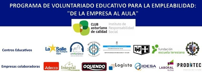 """Voluntariado Educativo: """"De la Empresa al Aula"""" con ADECCO"""