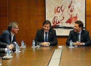 Alberto Martínez en reunión con el Presidente del Principado y el Consejero de Economía