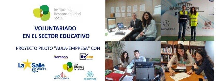 """Voluntariado en el Sector Educativo: Proyecto Piloto """"Aula-Empresa"""""""
