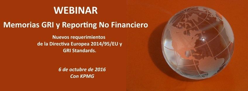 Webinar  Gratuito: Memorias GRI y Reporting No Financiero