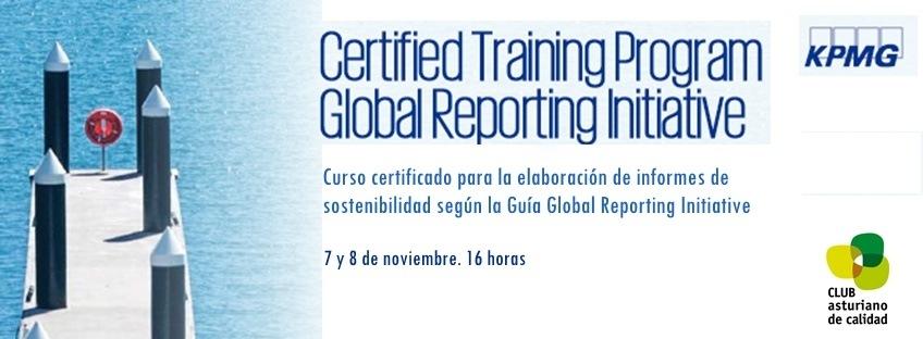 Curso Certificado para la Elaboración de Informes de Sostenibilidad según la Guía Global Reporting Initiative (GRI)