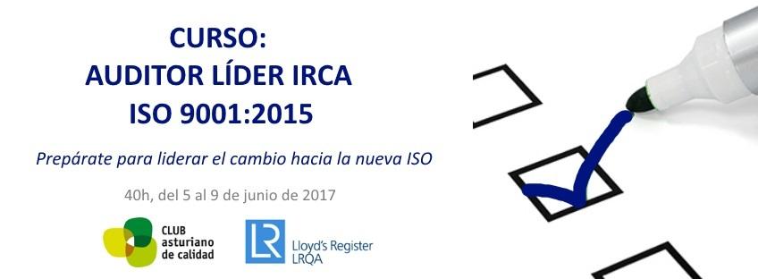 Curso Auditor Líder IRCA ISO 9001:2015