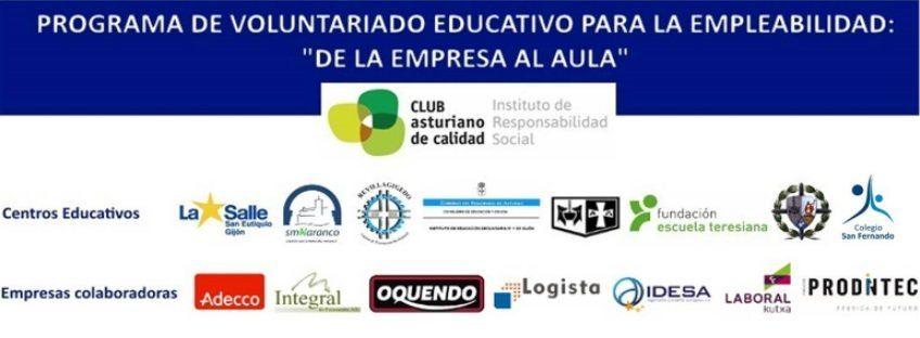 """PROGRAMA DE VOLUNTARIADO EDUCATIVO PARA LA EMPLEABILIDAD: """"DE LA EMPRESA AL AULA"""""""
