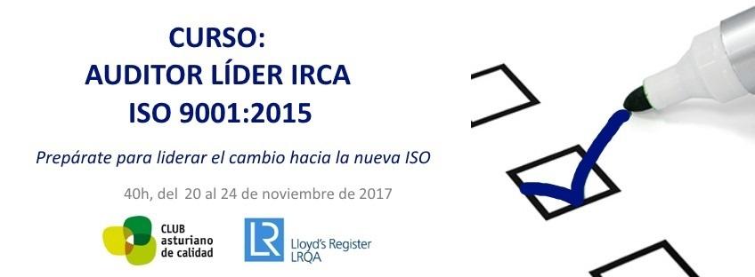 Curso: Auditor Líder IRCA ISO 9001:2015