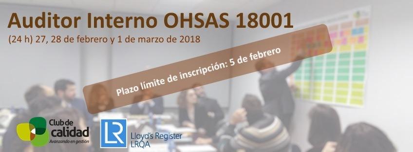 Curso: Auditor Interno OHSAS 18001