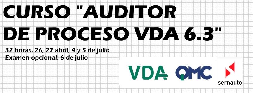 """Curso """"Auditor de Proceso VDA 6.3 (2016)"""""""