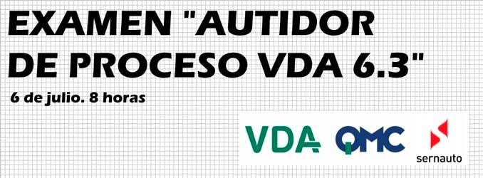 "Examen ""Auditor de Proceso VDA V6.3 (2016)"