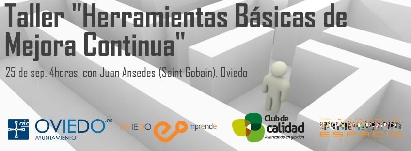 """Taller gratuito """"Herramientas Básicas de Mejora Continua"""". Oviedo Emprende"""