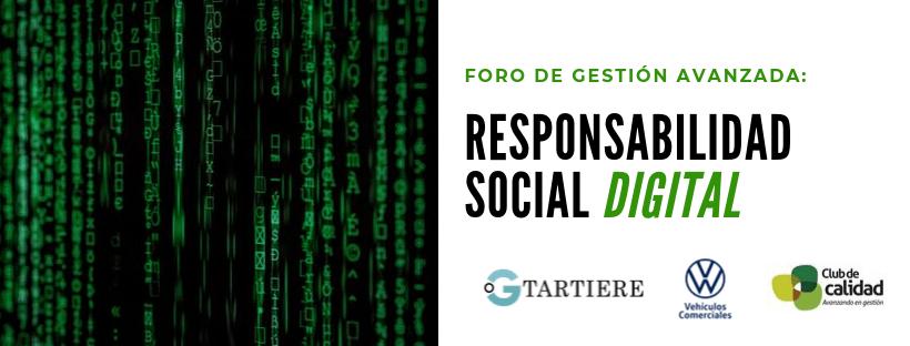 Foro Gestión Avanzada: Responsabilidad Social Digital