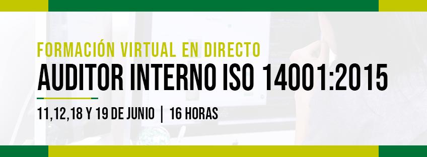 Formación virtual: Auditor Interno ISO 14001:2015