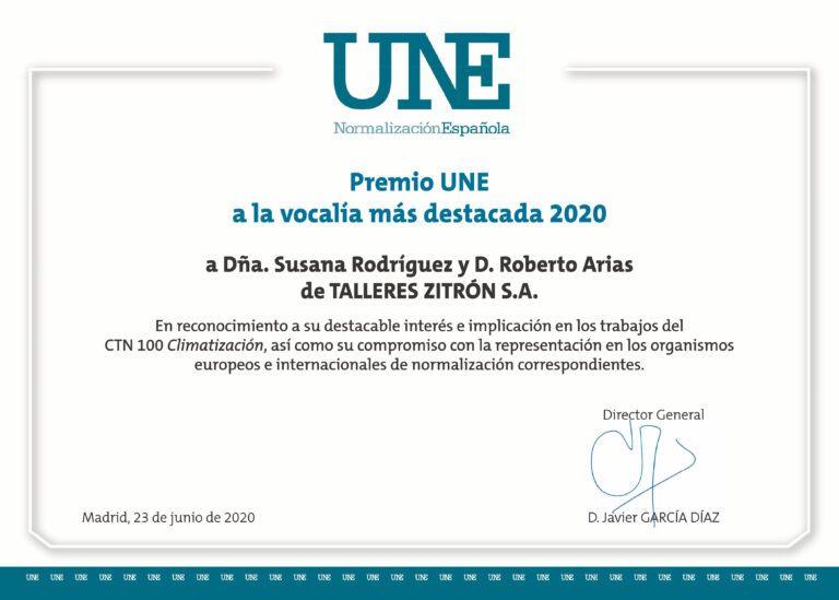 Premio UNE Zitron